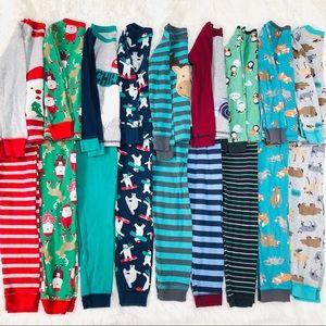 Lot of 9 Carter's Pajama Sets
